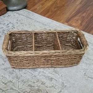 Rectangle Basket With Compartments New With Tag!